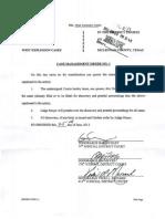 McClennan County Court Case Management Order No. 1