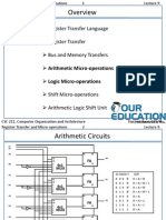 Arithmetic Micro-operations and  Logic Micro-operations