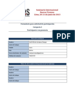 NT - Ficha Para Participantes (Categoria 2)