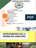 Antecedentes de La Norma Iso 22000 -1