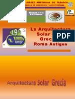 Arq. Solar en Grecia y Roma