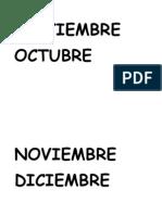 Septiembre Octubre Noviembre Diciembre