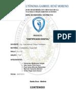 INFORME TEÓRICO - CERTIFICADO DIGITAL (Criptografía)