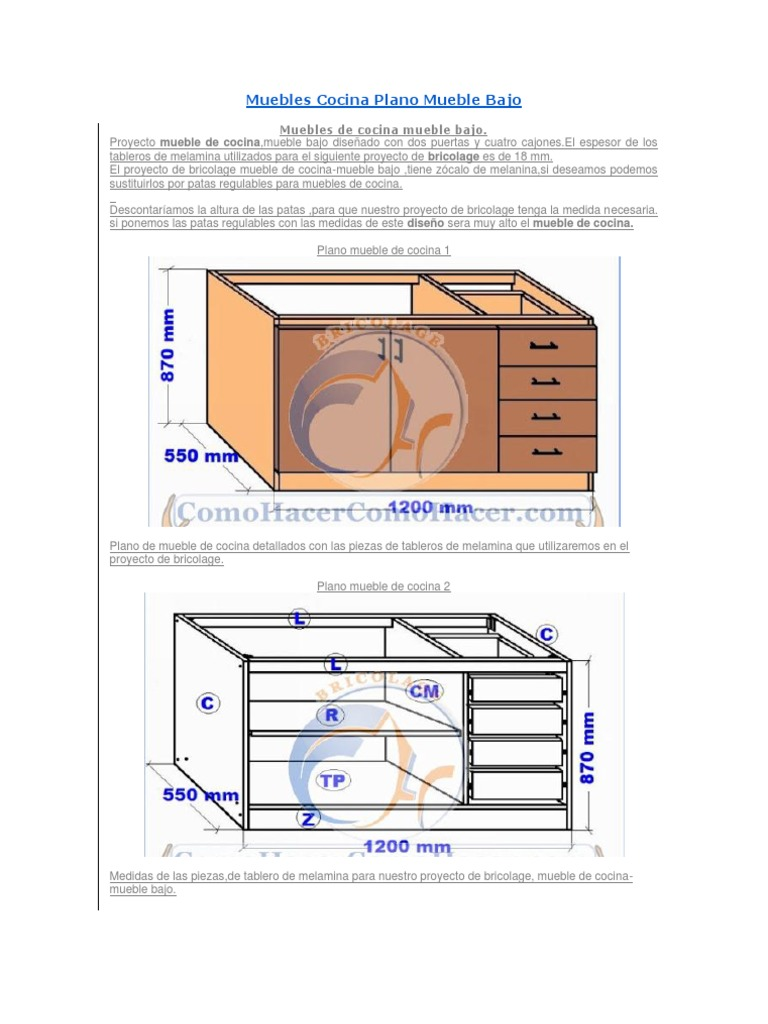 Muebles Cocina Plano Mueble Bajo