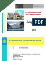 Sistema Nacional Endeudamiento Publico 2010