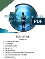 Notions Fondamentales de l'Environnement