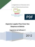 Pasos Legales Para Crear Una Empresa de SW en Bolivia