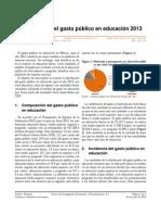 Distribución del gasto público en educación 2013