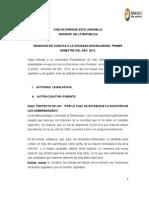 Informe de gestión Senador Carlos E. Soto