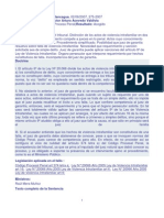 VIF. Causal de Incompetencia Del Tribunal, Actos Cuyo Conocimiento Compete a Jueces en Lo Penal.02.08.07.
