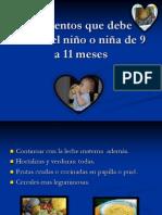 2012nutricionalimentos del niño de 9 a11
