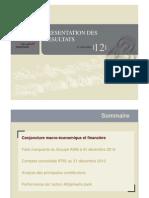 AWB Presentation Des Resultats Dec 2012
