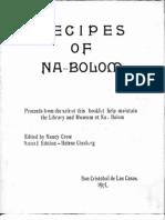 Recipes of Na-Bolom