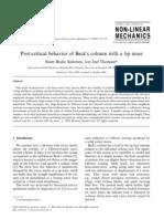 Andersen_2002_Post-Critical Behavior of Beck's Column With a Tip Mass