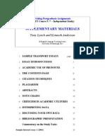 Writing Supplementary Materials