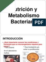 NUTRICIÓN Y METABOLISMO BACTERIANO