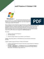 Cara Menginstall Windows 8 Melalui USB Flashdisk