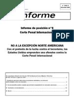 Informe Corte Penal Internacional