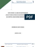 Informe Hospital Carlos Monge Medrano de Juliaca Al Area de Mantenimiento (Final)