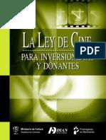 Ley de Cine Para Inversionistas y Donantes