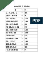 Cálculo mental 1º  ó  2º año