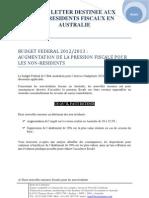 News LetterDestinée Aux Non Residents Fiscaux En Australie