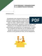 Intercambio de Personas y Organizaciones Dentro de La Administracion Personal