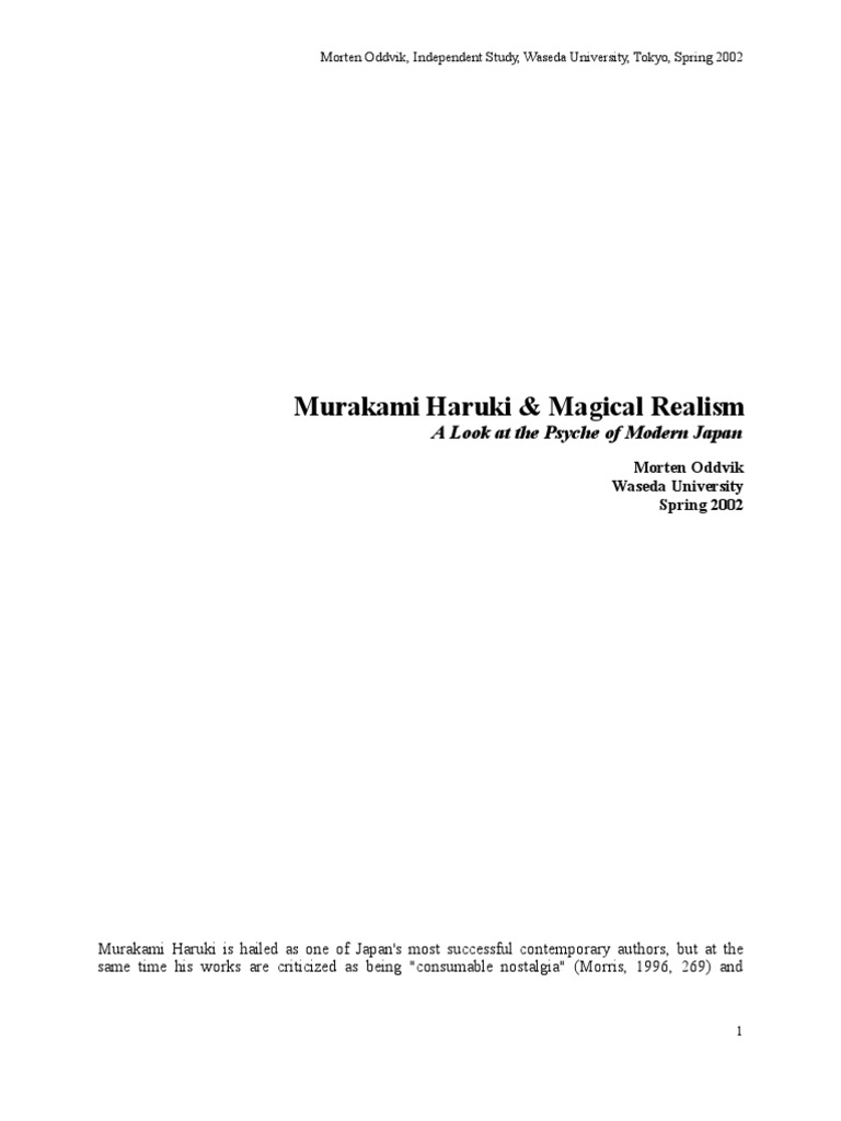 murakami magic realism