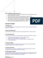 Project Plan Template 0407