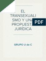 EL TRANSEXUALISMO Y UNA PROPUESTA JURÍDICA