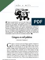 Antonio Carreira Góngora en mil palabras