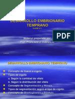 DESARROLLO EMBRIONARIO TEMPRANO