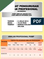 Taklimat Internship Pismp & Pgsr