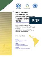 Hacia Unos Patrones Sostenibles de Producci%F3n y Consumo en Latinoam%E9rica y El Caribe