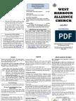 West Harbour Alliance Church Newsletter -  July 2013