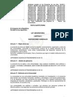 Texto Sustitutorio de La Ley Universitaria Aprobado en La Comision de Educacion ElPortalUniversitario