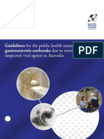 Guidelines for the Public Health Management of Gastroenteritis Outbreaks Due to Norovirus or Suspected Viral Agents in Australia