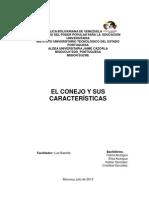 CARACTERÍSTICAS GENERALES DEL CONEJO