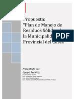 PLAN 872 Plan de Manejo de RRSS en La MPC 2011