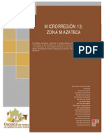 Secretaria de Desarrollo Social Oaxaca - Sintesis Ejecutiva Del Programa de Desarrollo Microrregion Mazateca