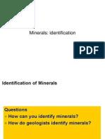 Modul 5b - Minerals, Identification