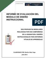 INFORME DE EVALUACIÓN DEL MÓDULO DE DISEÑO INSTRUCCIONAL