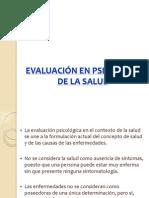 EVALUACIÓN PSICOLOGIA DE LA SALUD