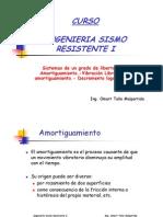 INGENIERIA SISMORESISTENTE I - TEMA 3 - Vibración Libre Amortiguada