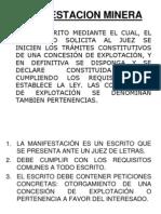 MANIFESTACION MINERA