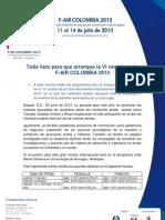 Comunicado Boleteria y Horarios FAIR 2013