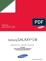 Samsung Gallaxy S III Manual
