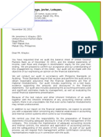 Audit Engagement Letter & Management Representation Letter(example)