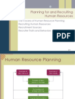 Planning for and Recruiting Human Resources