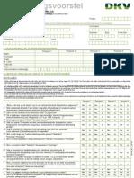 DKV - medische vragenlijst